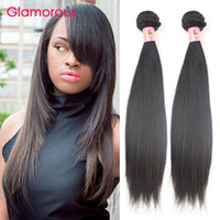 Wholesale Top Cheap Remy Hair - Glamorous Brazilian Hair Weft Top Quality Peruvian Indian Malaysian Virigin Hair 8-34Inch Cheap Brazilian Straight Human Hair Sew In Weaving
