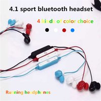 Wholesale Ear Fones - Free DHLBT-8 Sport Stereo Wireless Bluetooth Headset Headphone Running Earphone Auriculares Casque Cuffie Fones De Ouvido with Mic