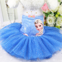 Wholesale Large Skirt Wedding Dresses - New Arrival Frozen Movie Dog Costumes Pets Dresses Mixed Colors Spring Summer Skirt 6 Sizes Pets Decoration Supplies