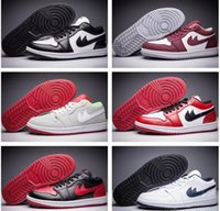 Wholesale J1 Shoes - Wholesale Cheap Men Women Basketball Shoes Retro 1 I Low Sneakers For Sale High Quality Original J1 Sports Shoes Free Shipping Size 36-46