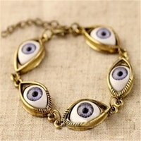 Wholesale bangle bracelet for ladies silver for sale - Group buy Vintage Evil Eye Bracelet for Women Punk Chains Bracelets Eyes Charm Bracelets Bangle Jewelry for Ladies