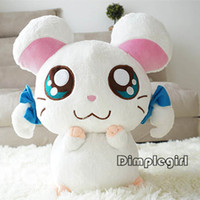 Wholesale Cute Animals Big Eyes - Wholesale-kids toy Japanese Style Kawaii Cute Big Eyes Mouse Stuffed Animal,Bijou Hamtaro Plush Toy For Baby Girl Boy Birthday Gift,35CM