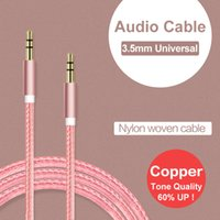 Cable speaker cabel - Aux Cable For Car mm Mini Jack Male to Male Nylon Cabel For Iphone s Plus s c Huawei P8 P9 Lite Meizu M3 Note M3s Mini Lg G5 G4