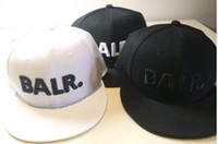 Wholesale leather hat buckles - BALR baseball cap, flat along hip-hop hat leather PU metal buckle hat