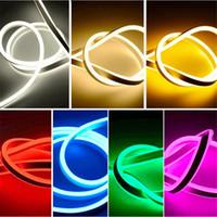 светодиодные световые шнуры оптовых-AC 200-240V LED неоновый свет гибкая полоса высокая яркость гибкая Неоновая лента Solt Tube водонепроницаемый открытый с вилкой