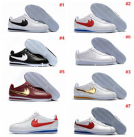Wholesale Outdoor Leisure Shoes - famous brand Casual Shoes men and women cortez shoes leisure Shells shoes cortez QS breathable Leather fashion outdoor Sneakers Eur 36-44