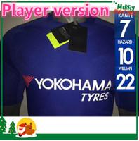 Wholesale Chelsea Player - Player version 17 18 Chelsea soccer jersey HAZARD home PEDRO PATO ZOUMA DIEGO COSTA WILLIAN FALCAO FABREGAS 2017 2018 soccer shirt