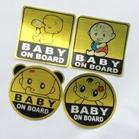 Wholesale Waterproof Material Baby - 1pcs The Cute Laster Car Pasters 11cm*11cm Baby On Board Stickers Car Decals Automobile Decorative Supplies Waterproof Car Stickers