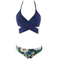 136d4337cf Sexy Bandage Bikini Set Cross Brazilian Bikinis Women Swimwear Swimsuits  Summer Halter Top Bathing Suits