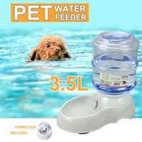 balde de água de plástico venda por atacado-Baldes Tigelas Grande 3.5Liters Automático Pet Cat Dog Alimentador De Água Tigela Dispensador De Garrafas de Plástico