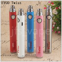 Meilleur nouveau 510 UGO twist batterie vape stylo batterie USB Passthrough tension variable 3.3v-4.8v cigarette électronique Electronic Pen E Vapor