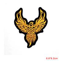 Wholesale Rocker T Shirts - new arrival Phoenix Fire Bird Tattoo Patch Biker Rocker Motorcycles Boxing T-Shirt Iron on clothing