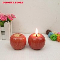 Wholesale Long Candle Red - Christmas decorations Home Red Apple Shape Fruit Scented Candle Gift Wedding Decoration Valentine's Day Christmas Candle Lamp