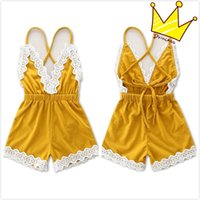 Wholesale Baby Girls Rompers Overalls Jumpsuits for Toddlers Children Kids Summer Cotton Backless Onesies Jumpsuits Lace Suspender Overalls Rompers
