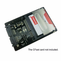 kartenleser 1,8 zoll großhandel-16Pin Micro SATA auf CFast Card Adapter 1,8 Zoll Festplattengehäuse SSD HDD CF Kartenleser für PC Laptop