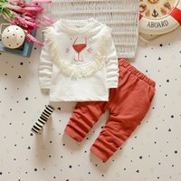 2016 Autunno New Baby Girls Boys Abbigliamento Set Bambini Cartoon Lion Vestiti Tute Kids Tuta sportiva Pullover Dress