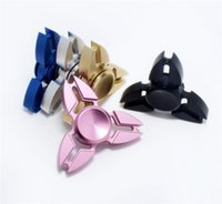 Wholesale Black Crab - Top Rated Fidget Spinner Triangle Hand Spinners Crab Feet Aluminum Alloy CNC EDC Finger Tip Decompression Rollover Plush Toys DHL FREE