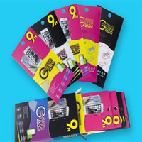 Wholesale Cheap Cell Phone Screens - Empty Retail Package Black Paper Boxes 10pcs each cheap box Packaging for Premium Tempered Glass 9H Screen Protector Sony Cell phone samsung