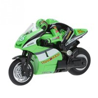 Wholesale Car Radio Motorcycle - Wholesale- mini RC Motorcycle Toys 8012 1 20 2.4 GHz Radio Controlled Toy Stunt Car For Children Gift