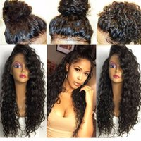 Wholesale High Heat Synthetic Wigs - Long Curly Synthetic Hair Wig Heat Resistant Fiber High Quality Lace Front Synthetic Wig Kinky Curly Synthetic Lace Front Wigs