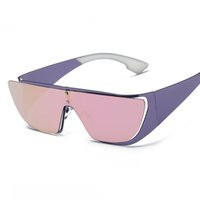 Wholesale Wholesale Rimless Sunglasses - Wholesale- Fashion Sunglasses Women Brand Design Cat Eye Integrated Shield Rimless Metal Rihanna Sun Glasses UV400 Oculos De Sol Feminino