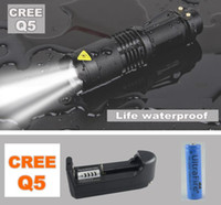 Wholesale Lanternas Ultrafire - 2000 Lumens Lanternas Led Torch CREE XM-L Q5 Led Flashlight 14500 Torch Rechargeable With Charger Linternas Powerful Lights