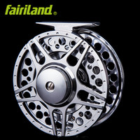 Wholesale Insect Baits - 5 6 90mm 3.54in 2BB+1RB Full metal fly fishing reel LARGE ARBOR design CNC MACHINED ALUMINUM ice reel L R hand interchangeable