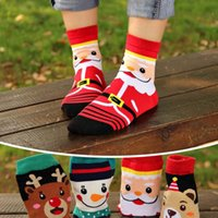 Wholesale Novelty Reindeer - Home Textile santa claus women men creative novelty tube socks cartoon santa reindeer snowman bear christmas socks