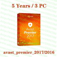 Wholesale Activation Keys - Hot Avast Premier 2017 2016 5 Years 3PC antivirus Security software License key Activation code 100% full working Support Multilanguage