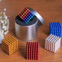 Wholesale Magnet Neo - Magic cubes 16 Colors Option 5mm 216 pcs Neo Cube Magic Puzzle Metaballs Magnetic Ball With Metal Box, Magnet Colorfull Magic Toys