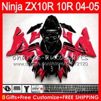 Wholesale kawasaki ninja online - 8Gifts Colors Body For KAWASAKI NINJA ZX1000C ZX R NO95 red black ZX10R ZX1000 C ZX R ZX R Fairing kit