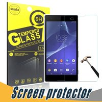 Wholesale Xperia Z1 Screen Protectors - Anti Shatter Tempered Glass Film Screen Protector 9H 2.5D For Sony Z5 Mini Z1 Z2 Z3 Z4 Mini S36H LT26I Xperia Z L
