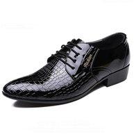 Wholesale Bridegroom Shoes - Fashion Full Grain Leather Shoes Business Men Dress Shoes Wedding Party Prom Bridegroom Grooms Men Shoes