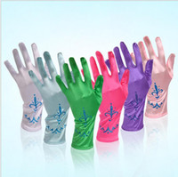 Wholesale jcdtrade Factory direct sales of long gloves gloves multi color stage performances children etiquette gloves