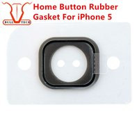 Wholesale Rubber Button Cap - Home Button Rubber Gasket For iPhone 5 5g Key Keypad Rubber Gasket Gadget Sticker Adhesive Holder Cap Pad Ring Spacer Replacement Parts