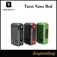 Wholesale Nano Board - Vaporesso Tarot Nano 80W TC Box Mod 2500mah Built-in Battery for E Cigarettes Tarot Nano kit OMNI Board for More Output Modes 100% Original