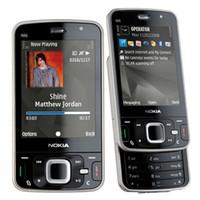 Wholesale Camera Slider Wholesale - Refurbished Original Nokia N96 Unlocked Slider Mobile Phone WIFI GPS Bluetooth 5.0MP Camera GSM 3G WCDMA Mobile Cell Phone Free DHL 5pcs