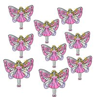 Wholesale Butterfly Sew - Diy Butterfly Angel patches for clothing iron embroidered patch applique iron on patches sewing accessories badge for clothes DZ-203