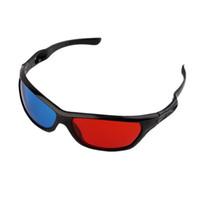 красное телевидение видео оптовых-Универсальный 3D очки черная рамка красный синий 3D Visoin стекло для размерных анаглиф фильм Игры DVD видео ТВ в наличии!