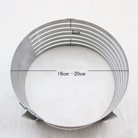 Wholesale Mousse Cake - Adjustable Ring Layer Cake Mould Stainless Steel Slicer Mold Mousse Slicing Deal Tool For Creating And Decorating Your Cake