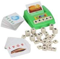 Wholesale Word Games Educational - Learning Machine, Learn English Word Puzzle Toy, Children's Educational Toys, Baby Literacy Fun Game, English Learning Cards
