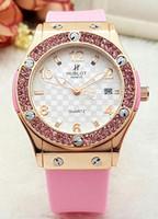 Wholesale Acrylic Diamonds Big - luxury Quartz Big Bang diamond HOT automatic date luxury fashion and women of the movement quartz clock men watch