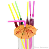50PCS 3D Paper Umbrella Cocktail Cannucce Novità Party Bar Decorazioni feste di festa di Natale forniture HD0104
