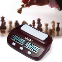 New Arrival LEAP Digital Chess Clock Count Up Down Timer Ensemble de jeu de plateau électronique Portable Handheld Man Piece Master