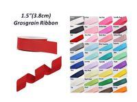 "Wholesale Wholesale Wide Ribbon Grosgrain - 1.5 ""(38mm)Wide Grosgrain Ribbon- Diy Packaging Decoration Clothing Materials"