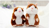 Wholesale Popular Records - Hot sale popular 15cm Talking Hamster Talk Sound Record Repeat Stuffed Plush Animal Kids Child Toy Talking Hamster Plush Toys