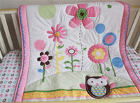spanish beds - Ins Spanish Cot Bed Set girl crib bedding set cartoon animal pink flowers Inc quilt bedcover bumper crib skirt