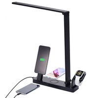 led usb lamp mobile charger prices - Smart LED Table Lamp Charing Stand USB 3.1 Type-C Charger Mobile Phone USB Charging Dock Qi Wireless Charger