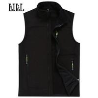 Wholesale Fleece Waistcoats - Wholesale- LILL | Waterproof Male Vest Men Autumn Winter Warm Tech Fleece Mens Waistcoats Softshell Casual Vests Sleeveless Jacket,UA022