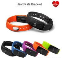 Wholesale Heart Bangle Watches - ID107 Bluetooth Heart Rate Monitor Smart Band Bracelet Bangle Watch Smartband Fitness Tracker Sports Wristbands for Android iOS Smartphone